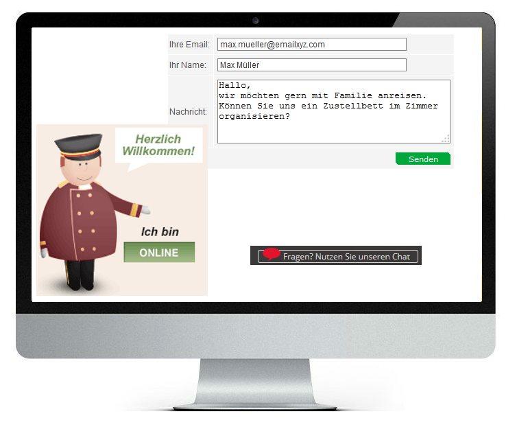 Chatsystem Bildschirm