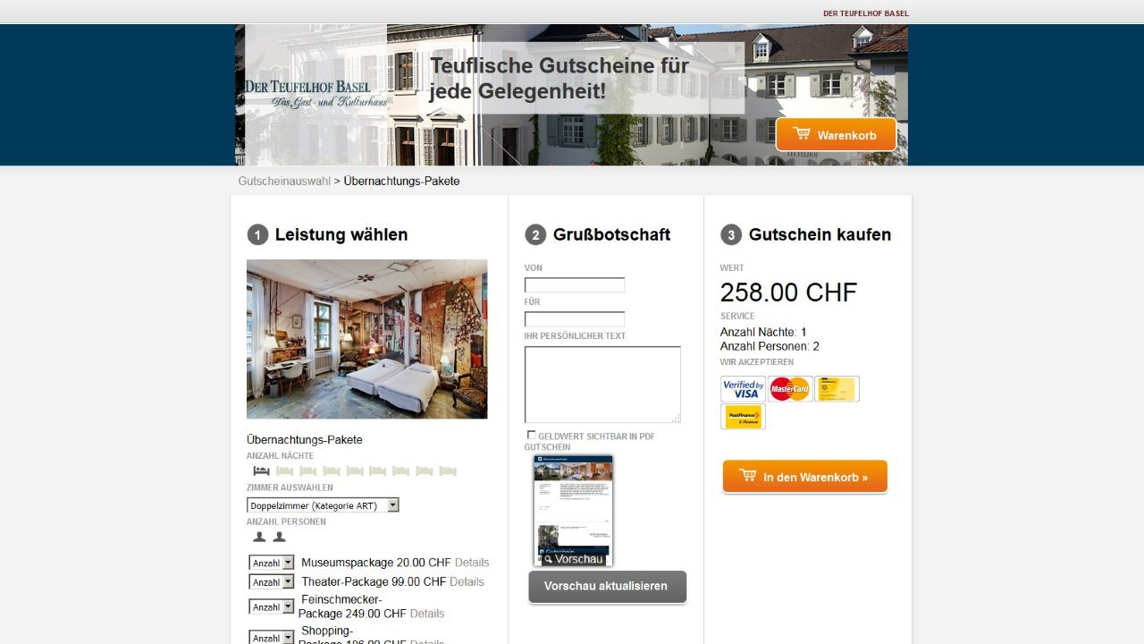 Gutscheinshop Der Teiufelhof Basel