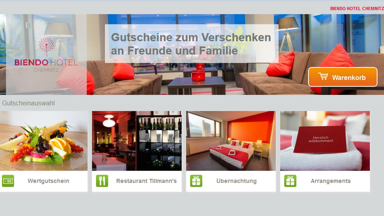 Gutscheinshop Hotel Biendo