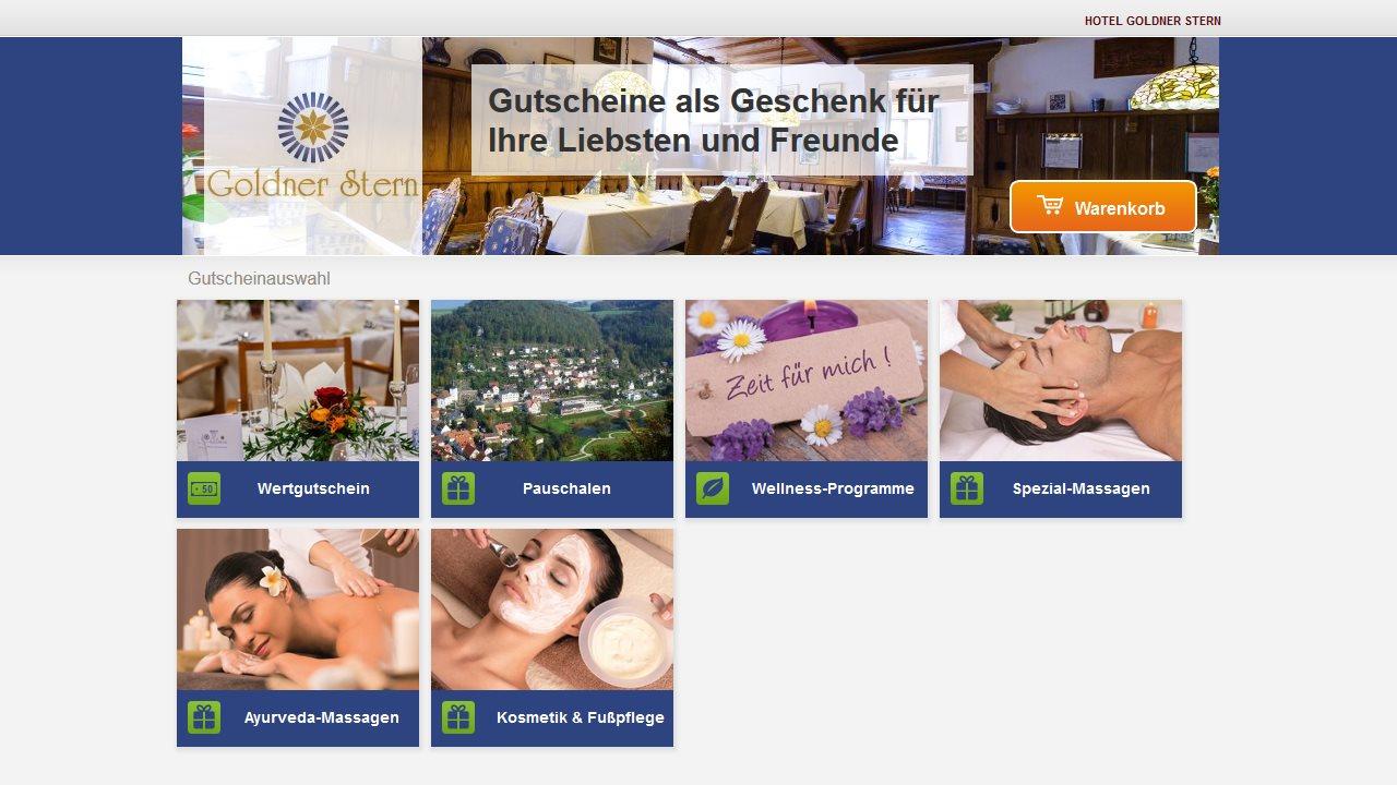 Gutscheinshiop Hotel Goldner Stern