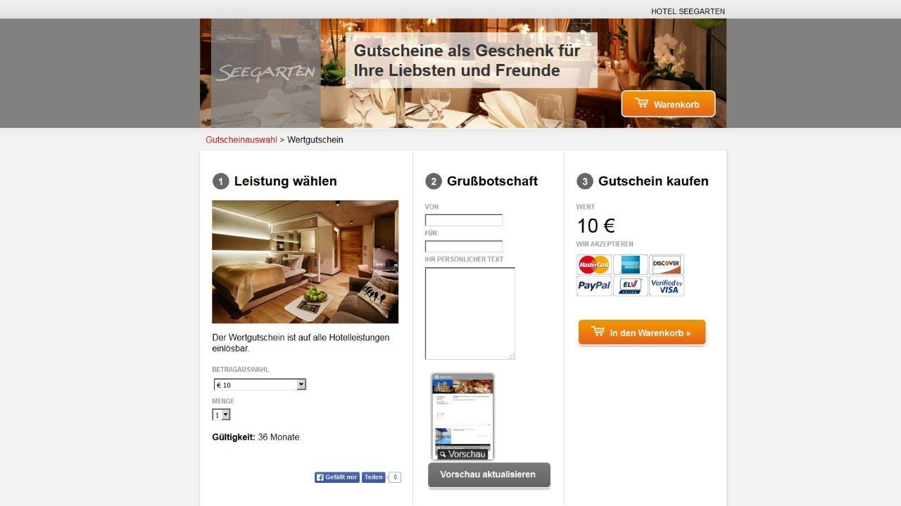 Gutscheinshop Hotel Seegarten