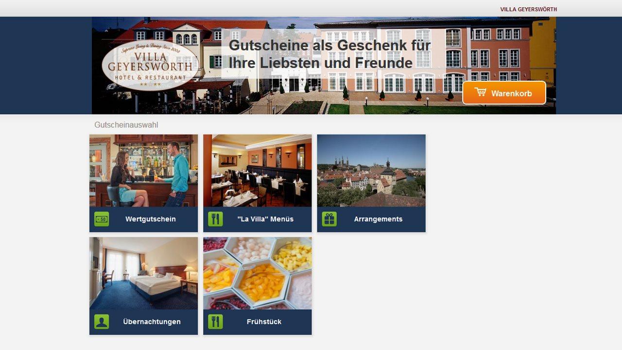 Gutscheinshop Hotel Villa Geyerswörth